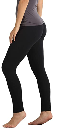 2417c089df2 Premium Ultra Soft High Waisted Opaque Leggings for Women - Full Length -  Black - One