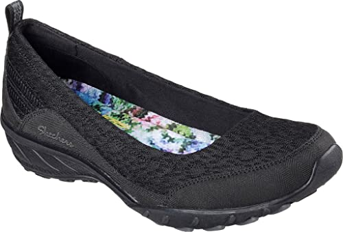 Skechers Relaxed Fit Savvy Windsome Women Slip on Slipper BLK Ballerinas