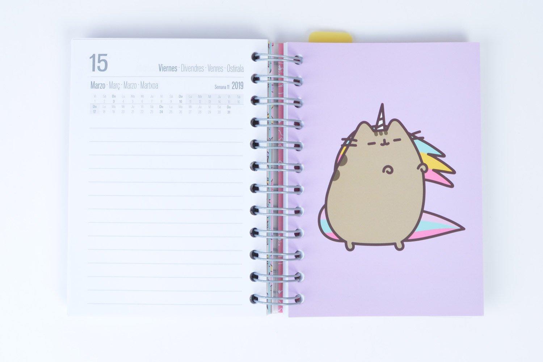 Grupo Erik Editores Pusheen The Cat - Agenda escolar en español, 11.4 x 16 cm