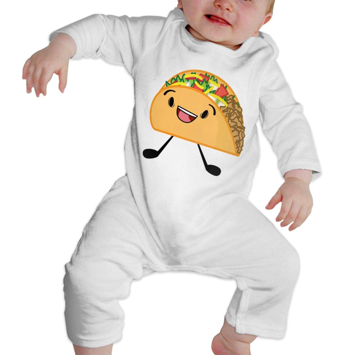 Fasenix Taco Newborn Baby Boy Girl Romper Jumpsuit Long Sleeve Bodysuit Overalls Outfits Clothes