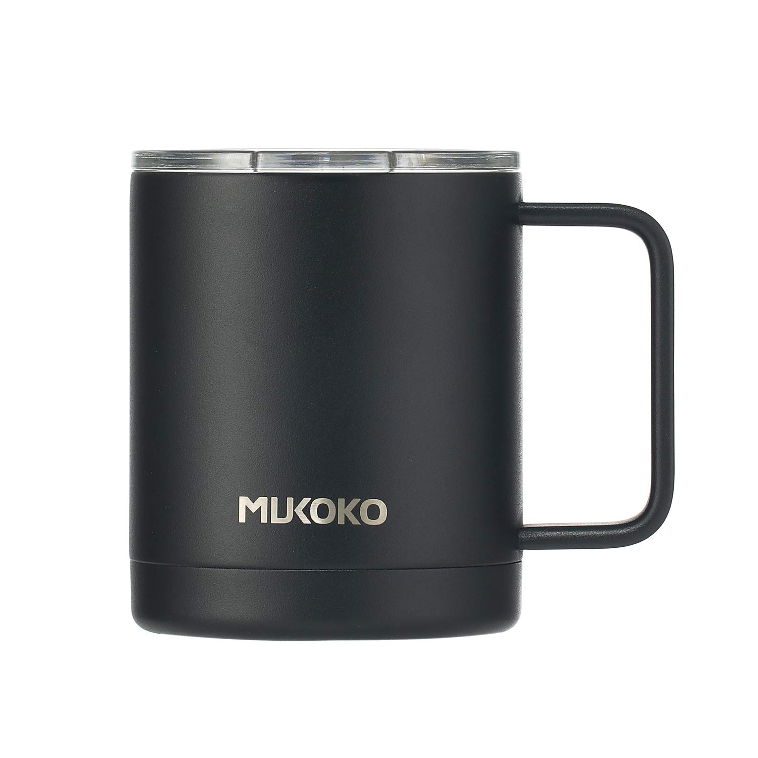 Insulated Coffee Mug 20oz Stainless Steel Vacuum Insulated Mug With Lid and Handle(18oz After Lid is Closed) Black