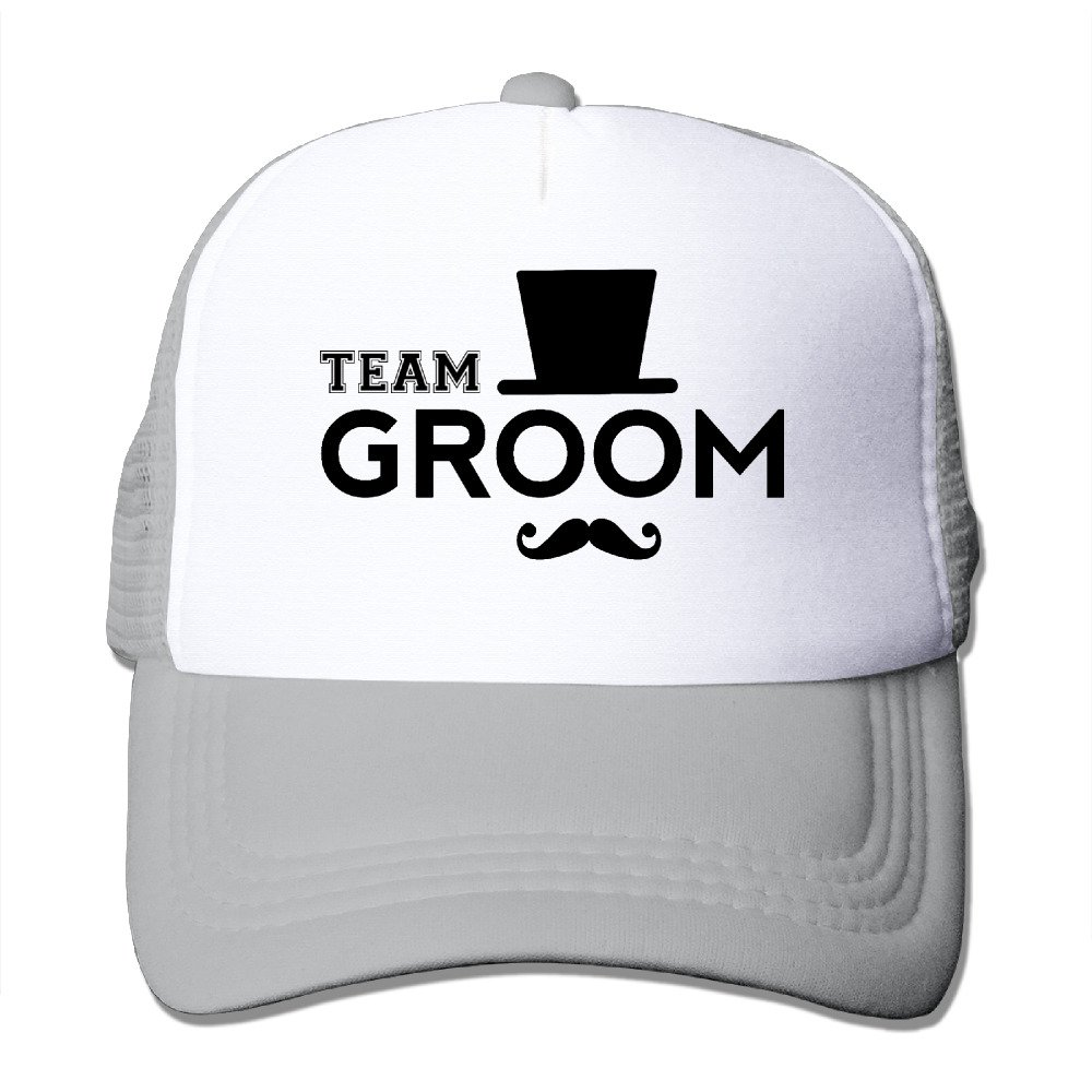Team Groom Trucker Cap With Mesh Adjustable Hat Caps Black