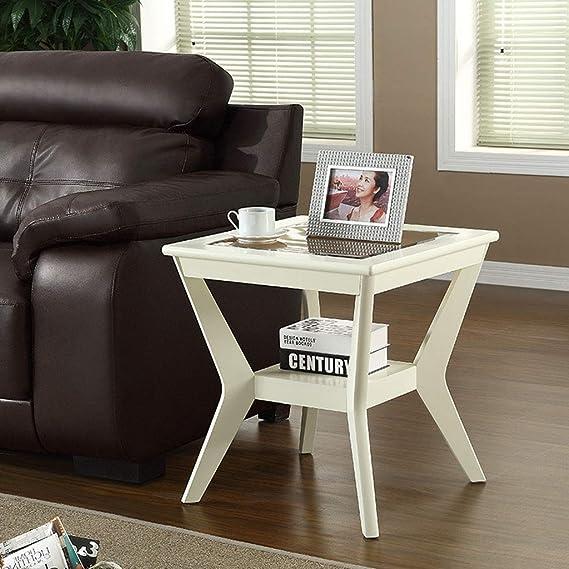 Amazon.com: Mesa de centro esquina, mesa auxiliar de sofá ...