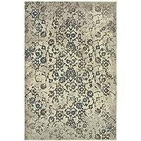 Oriental Weavers 5502H Pasha Area Rug, 23 x 76, Beige/Grey