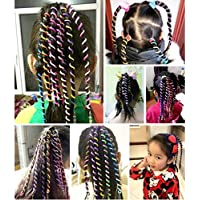 llguz los niños creativos 6pcs rizador de niños forma de trenza pelo trenzado accesorios Little Girl decoración herramientas de accesorios de pelo rizado de pelo