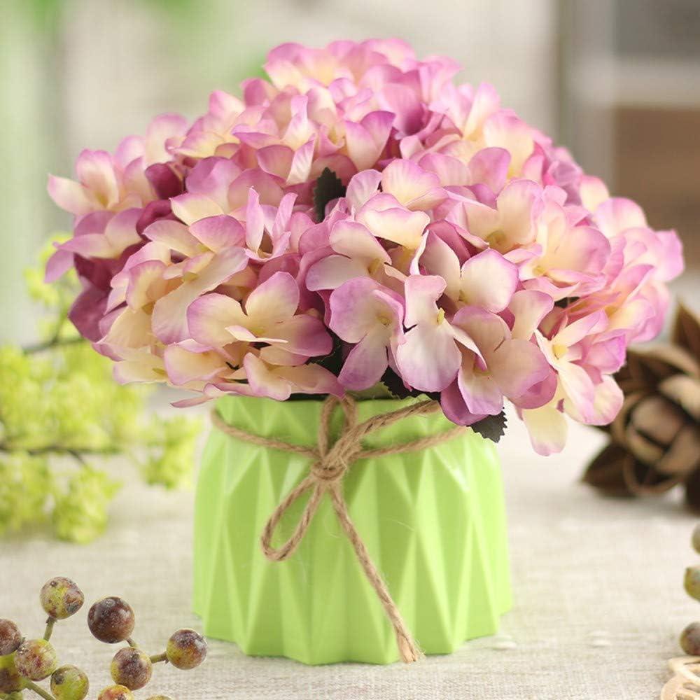 Jnseaol Flores Artificiales Manualidades En Maceta San Valentin Maceta Pastoral Exterior Finas Exoticas Maceta De Plástico Flor Púrpura