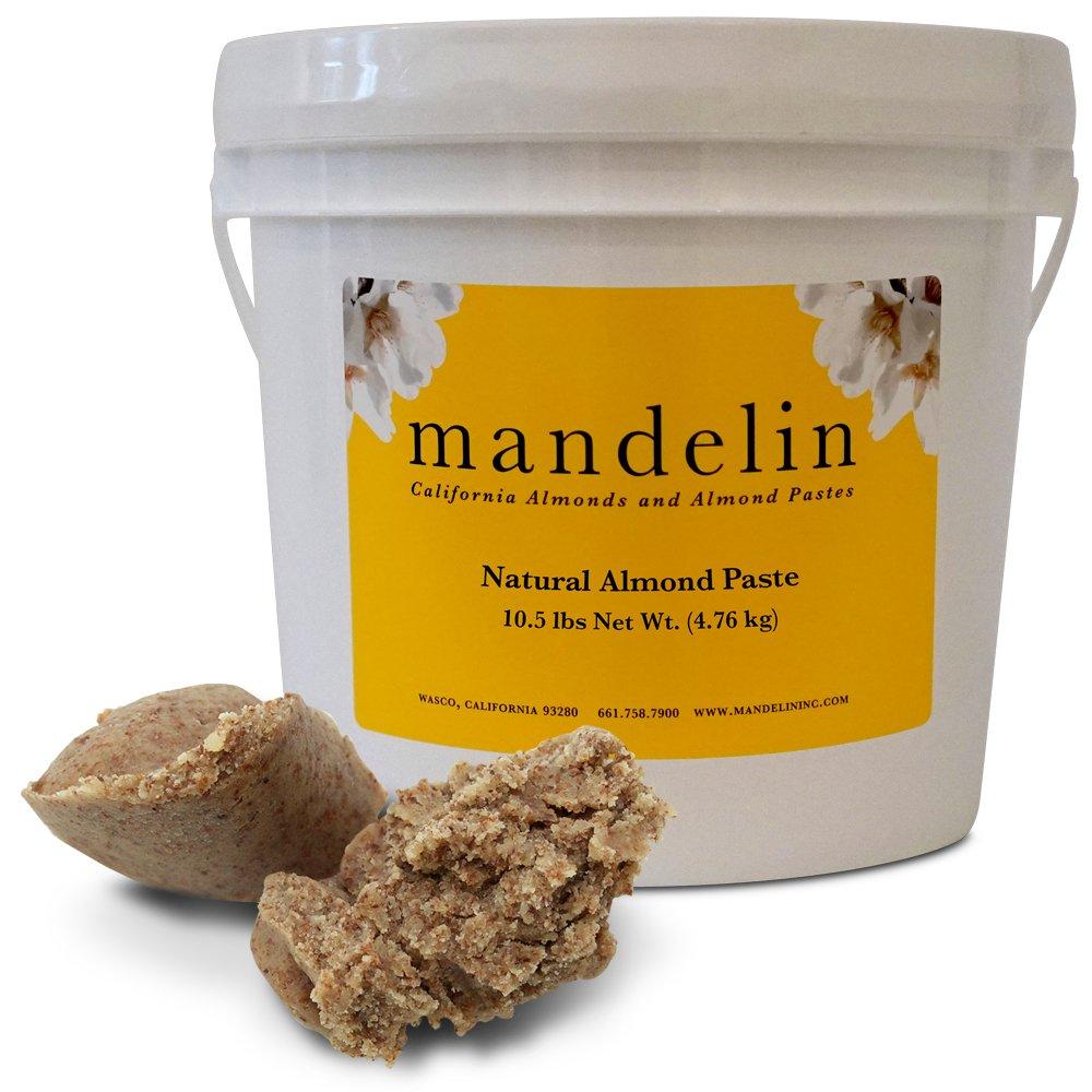 Mandelin Natural Almond Paste (10.5 lb), 50% Almonds, 50% Sugar by Mandelin