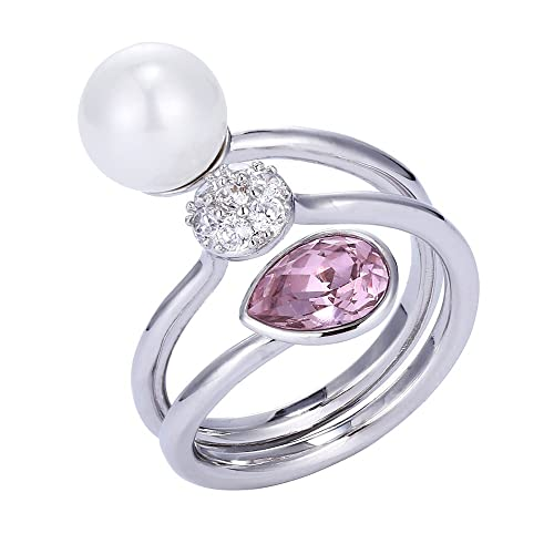 71402d962 Xuping Lover Thanksgiving Intimacy Round Crystals from Swarovski Women Rings  Jewelry (Pink)