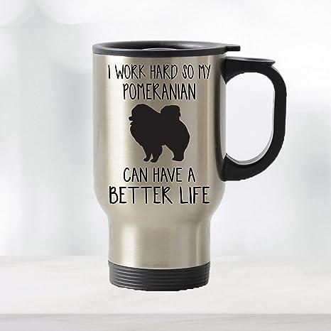 Amazon Com Pomeranian Travel Mug Pomeranian Gifts Dog Mug Coffee