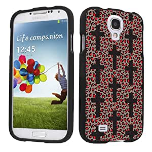Samsung Galaxy S4 Black Protection Case - Leopard Cross By SkinGuardz