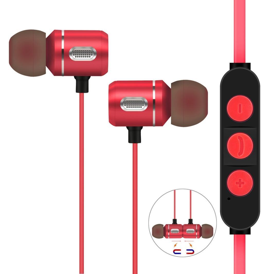 auriculares in ear headphone bluetooth 4.1 inalambricos deportivos Sannysis auriculares con micrófono incorporado micrófono soporte técnico de llamadas con ...