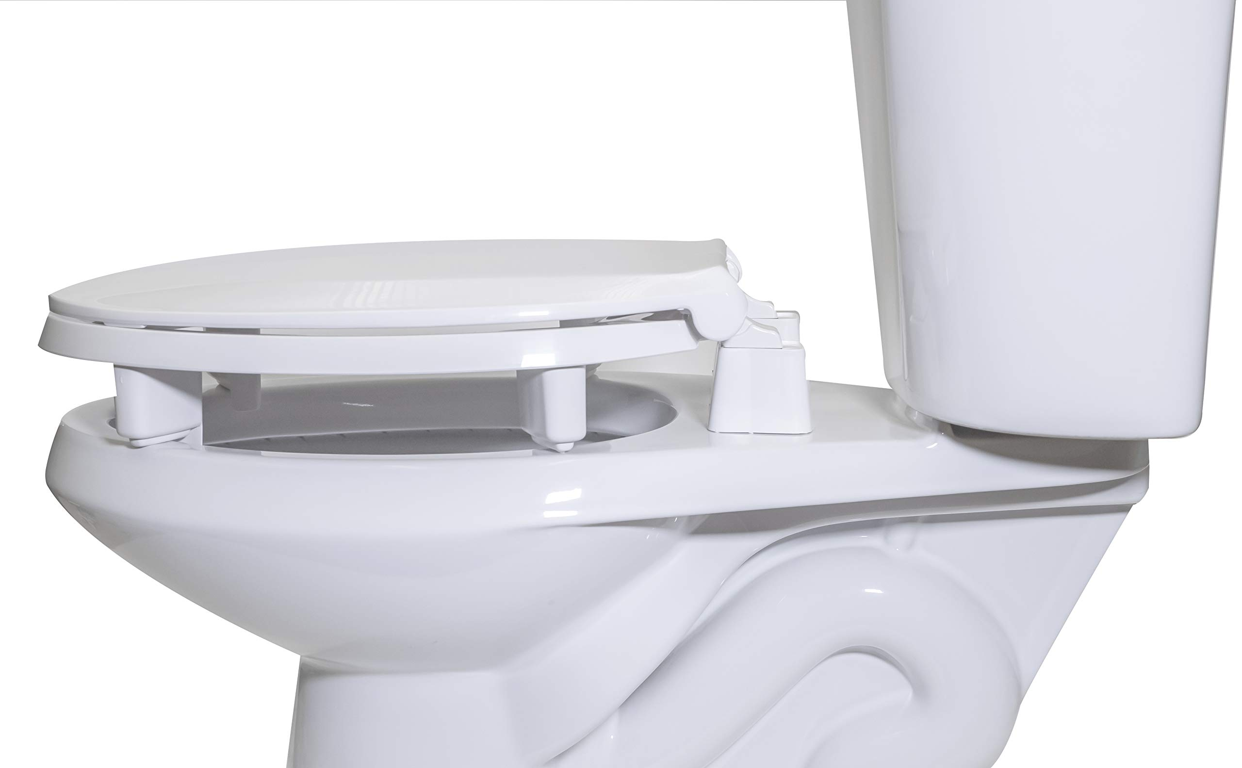 Centoco 3L800STS-001 Elongated 3'' Lift, Raised Plastic Toilet Seat, Closed Front with Cover, ADA Compliant Handicap Medical Assistance Seat, White by Centoco (Image #5)