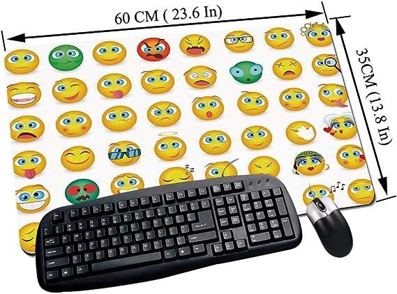 Alfombrilla Raton Gaming,Emoji, dibujos animados como caras ...