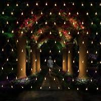 Salcar - Rete di luci a LED, 3 x 2 m, per Natale, feste, interni, 8 programmi di cambio luce (luce bianca calda)