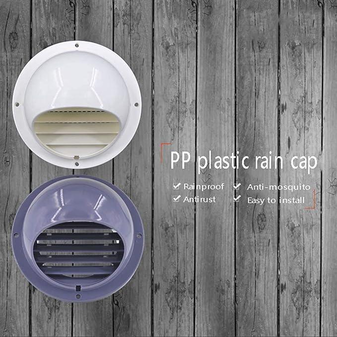 LXLTL Rejilla De Ventilación PP de plástico Vent Cowl para Todos Los Sistemas de Ventilación de Ventilación de Pared 100mm,White150/160mm: Amazon.es: Hogar