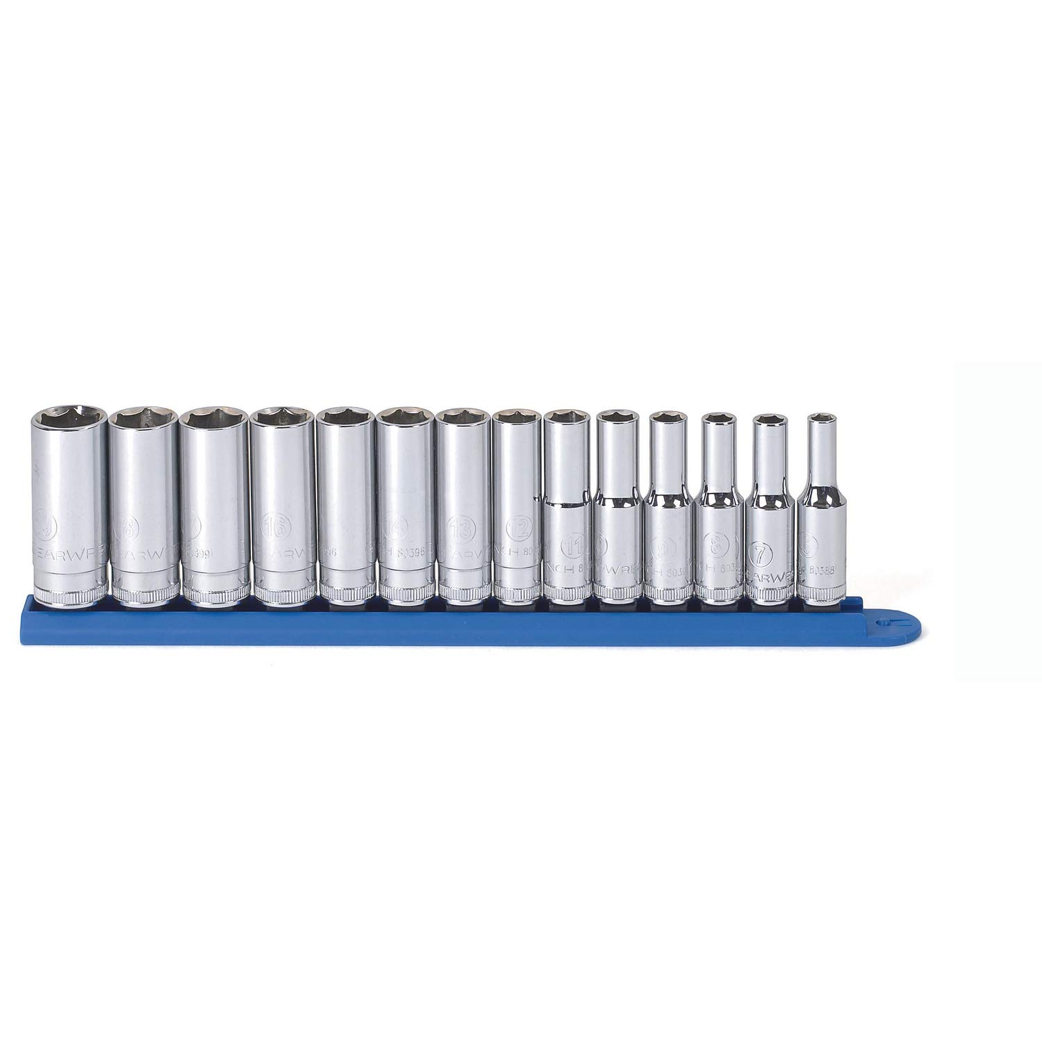 "GEARWRENCH 14 Piece 3/8"" Drive 6 Pt. Deep Socket Set, Metric - 80554"