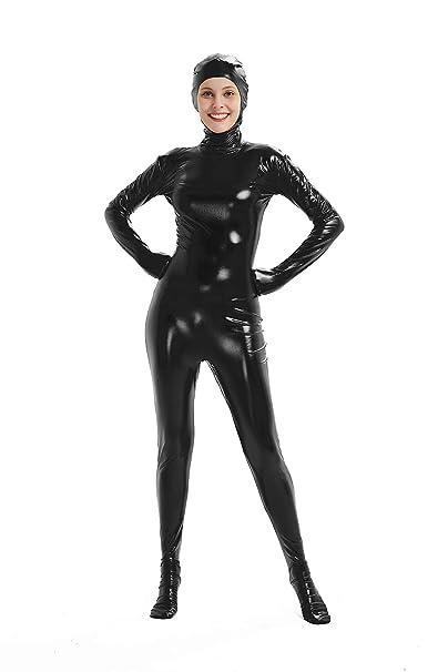 Amazon.com: Traje de cuerpo completo para mujer brillante ...