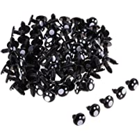 Flameer 100 Pieces Plastic Safety Eyes for Bears Soft Toys Animal Dolls Crafts 12MM