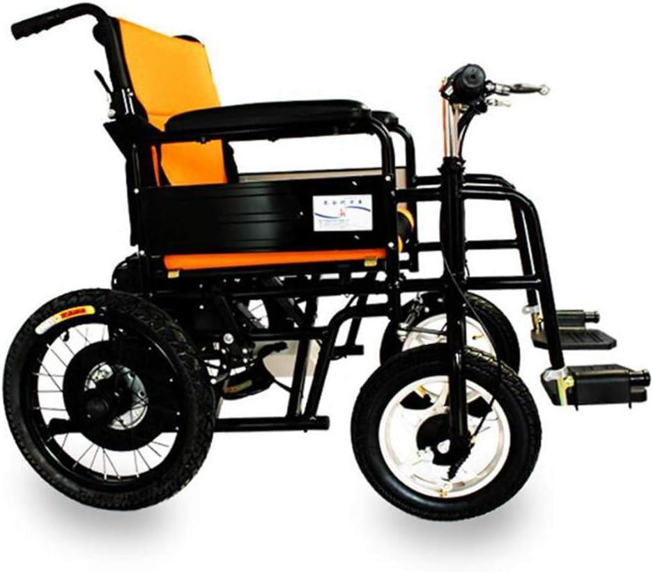 Ancianos Discapacitados Silla de Ruedas Eléctrica Ligera Silla de Ruedas Eléctrica Plegable Inteligente el Modelo de Acero Al Carbono Vehículo Motorizado de Cuatro Ruedas Adecuado para Discapacitados