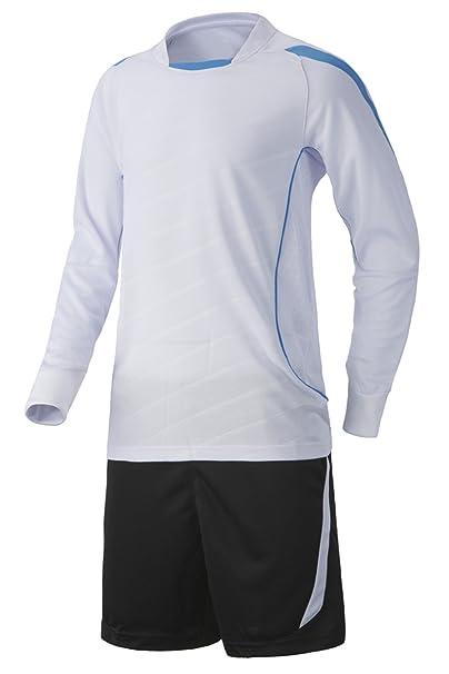 XFentech Camiseta de fútbol de manga larga + pantalones cortos de fútbol, kit