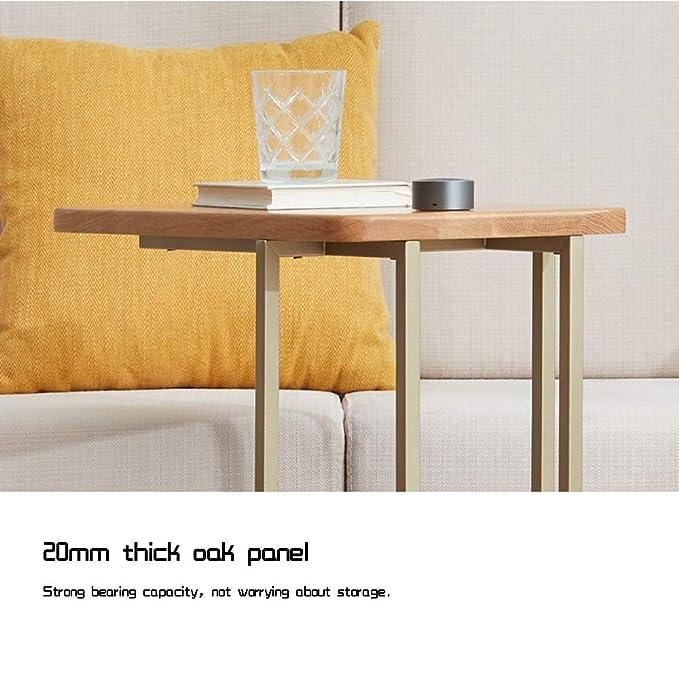 Amazon.com: Bseack - Mesa de centro pequeña de madera maciza ...
