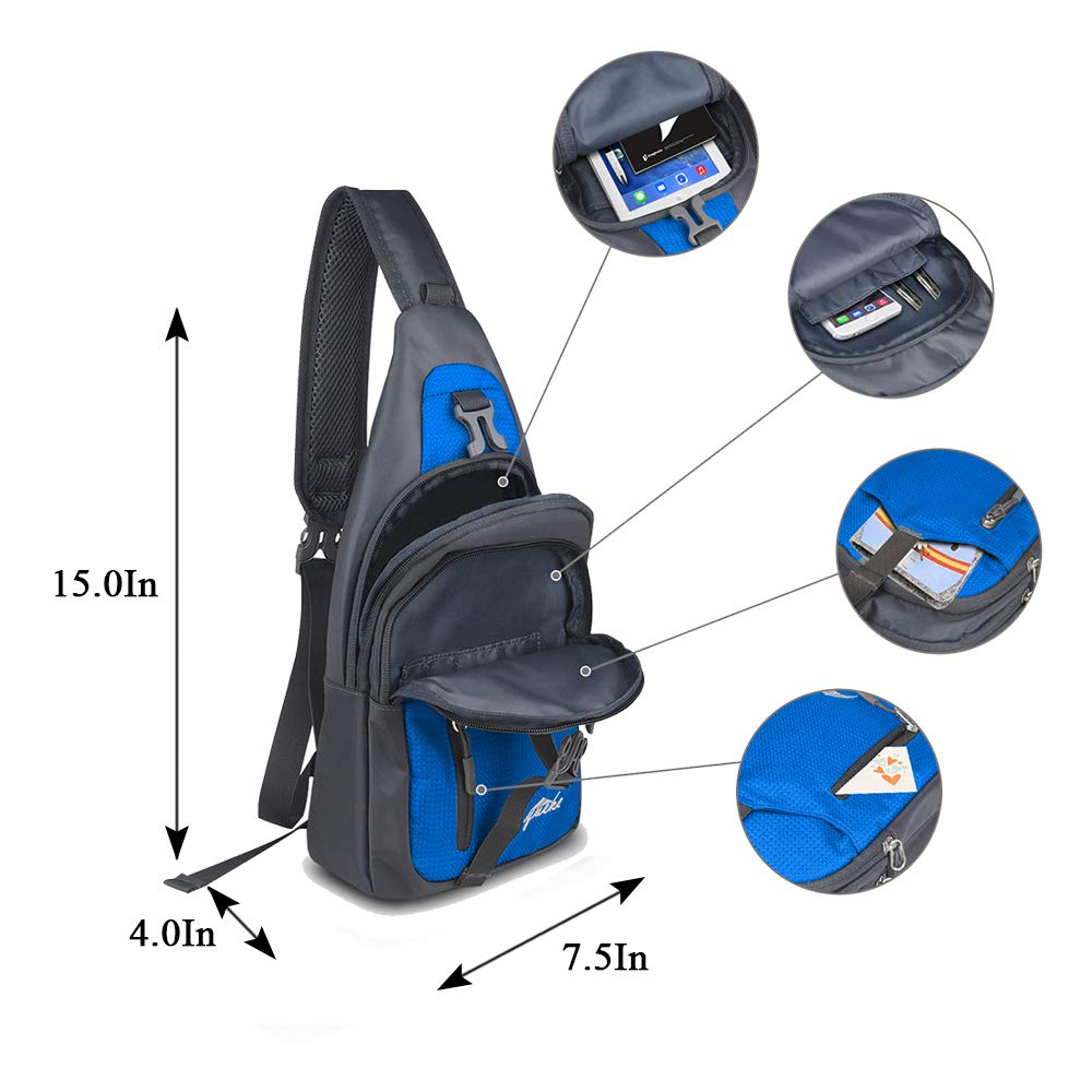 Y&R Direct Sling Bag Sling Backpack,Shoulder Chest Crossbody Bag Purse Nylon Lightweight MulticolorSmall Daypack Outdoor Hiking Camping Travel Women Men Boy Girls Kids Gifts (Sky-Blue)