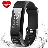 MUZILI Smart Fitness Band IPX7 Waterproof Fitness Tracker Watch with Heart Rate Sleep Monitor 14 Exercise Modes Activity Band GPS Route Tracking USB Quick Charge for Men Women Boys