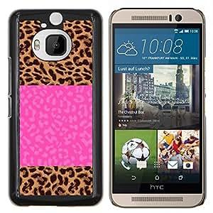 LECELL--Funda protectora / Cubierta / Piel For HTC One M9Plus M9+ M9 Plus -- Jolt eléctrico Rayo Rosa del texto --