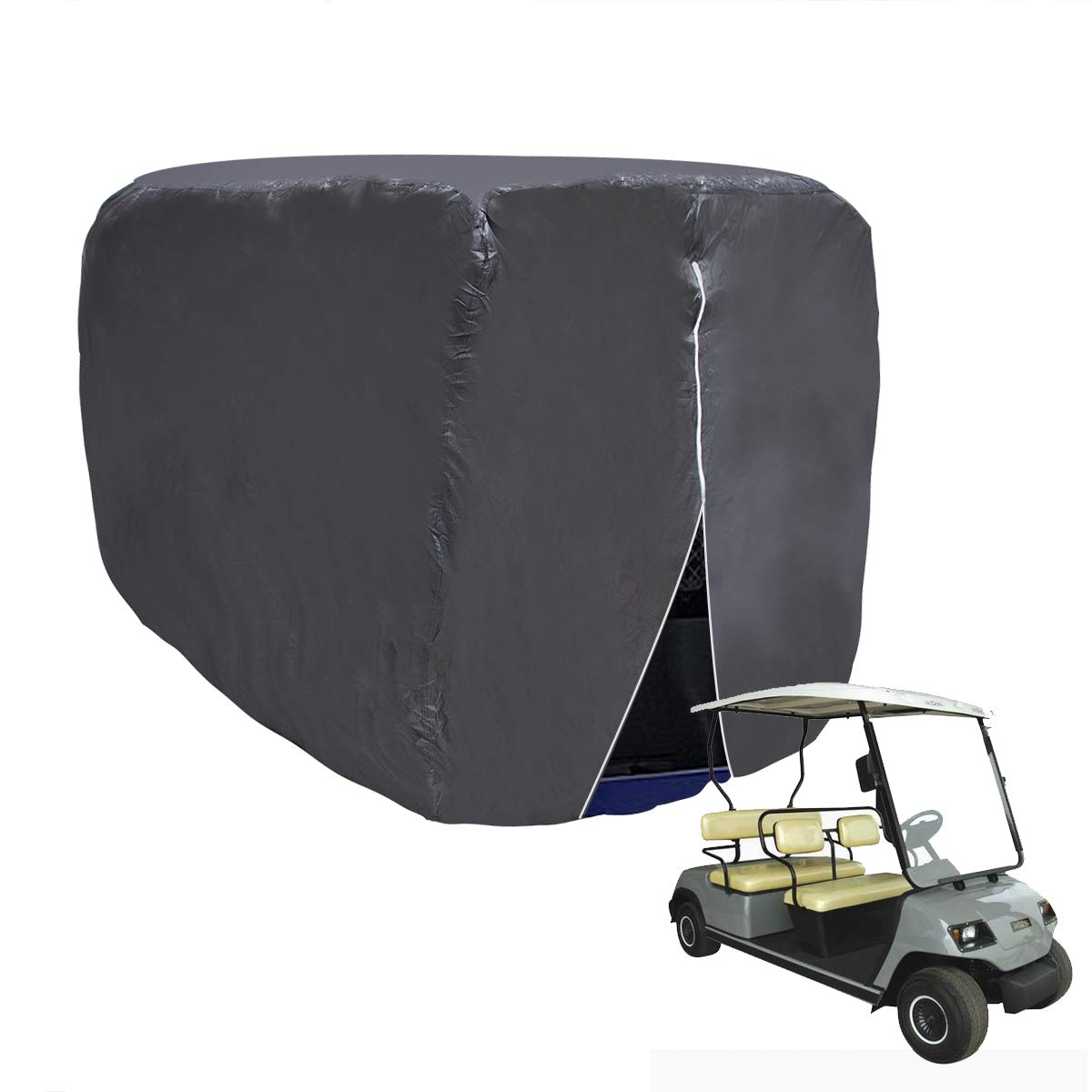 Wisamic Waterproof Golf Cart Cover - 4 Passengers Golf Cart