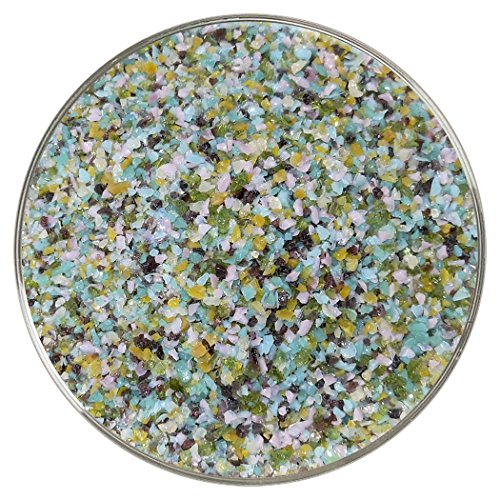 Peacock Designer Medium Frit Mix – 4oz – 90COE – Made From Bullseye Glass
