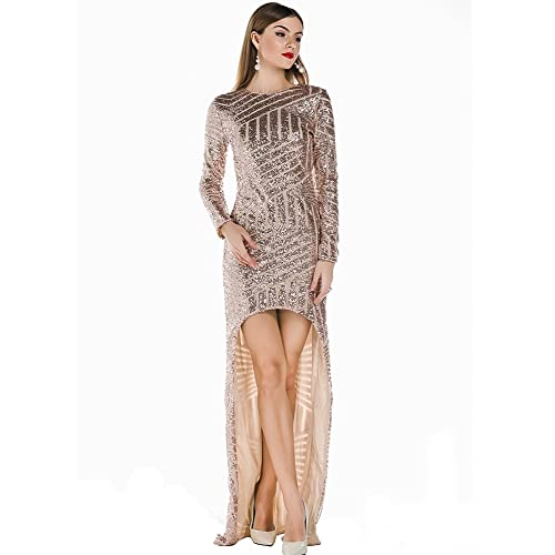 Miss ord Womens Polyester Striped Sequined Maxi Dress