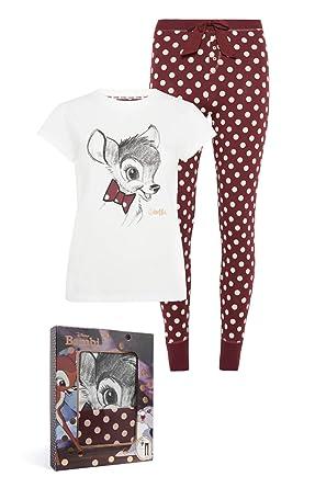 Disney Bambi Ladies Thumper Short Sleeve Pjs Pyjama Set