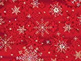 Pack of 1, Winter Snowflake 18'' x 417' Half Ream Gift Wrap (Metallized) for Holiday, Party, Kids' Birthday, Wedding & Special Occasion Packaging