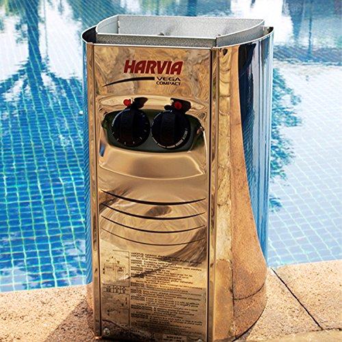 RGX 4 Persons Traditional Hemlock Wooden Barrel Sauna Made with Harvia Sauna Electrical Heater and Sauna Stove