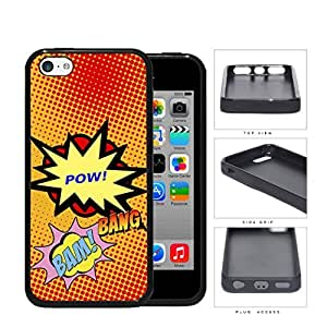 Cool Comic Book Action Words Pop Art [iPhone 5c] Rubber Silicone TPU Cell Phone Case