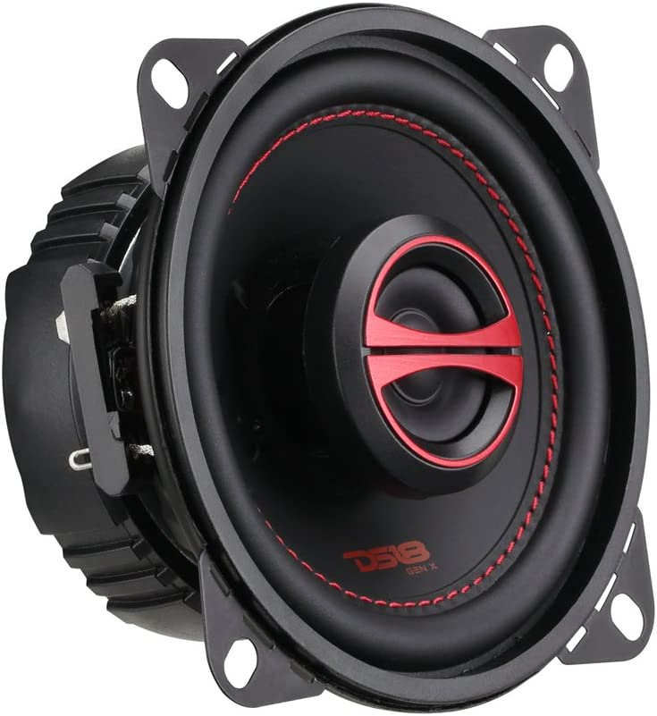 "DS18 GEN-X4 Coaxial Speaker - 4"", 2-Way, 120W Max, 40W RMS, Black Paper Cone, Mylar Dome Tweeter, 4 Ohms - Clarity Unparalled by Other Speakers in Their Class (2 Speakers)"
