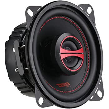 DS18 GEN-X4 4 Inch 120 Watts 2-Way Coaxial Speakers with Mesh Grills 4-Ohms - Sold As A Pair of 2