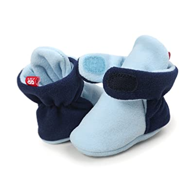 4e00033a154e Sabe Infant Boys Girls Warm Fleece Ankle Booties Soft Sole Unisex Strap  Slippers First Pram Non-Skid Winter Baby Shoes Christmas First Birthday  Gift Beige
