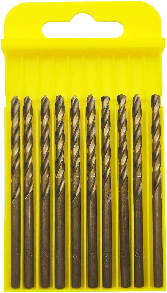 Aluminum Alloy and Softer Materials Sipery 10Pcs M35 Cobalt HSS Twist Drill Bits 4mm with Straight Shank Drilling for Stainless Steel Copper
