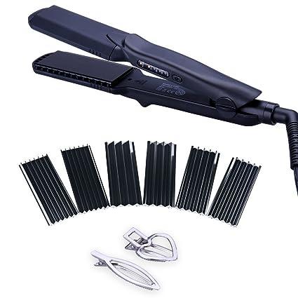 Juego de alisador de cabello 4 en 1, rizador, moldeador, plancha, con