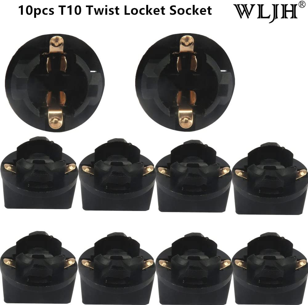 8Pcs T10 168 PC194 Instrument Speedometer Dashboard Panel Twist Lock Plug Socket