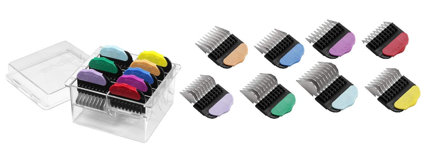 MPP Steel Magnetic Guide Clipper Combs 8 Piece Set Color Coded Kit Pro Grooming Tool by MPP