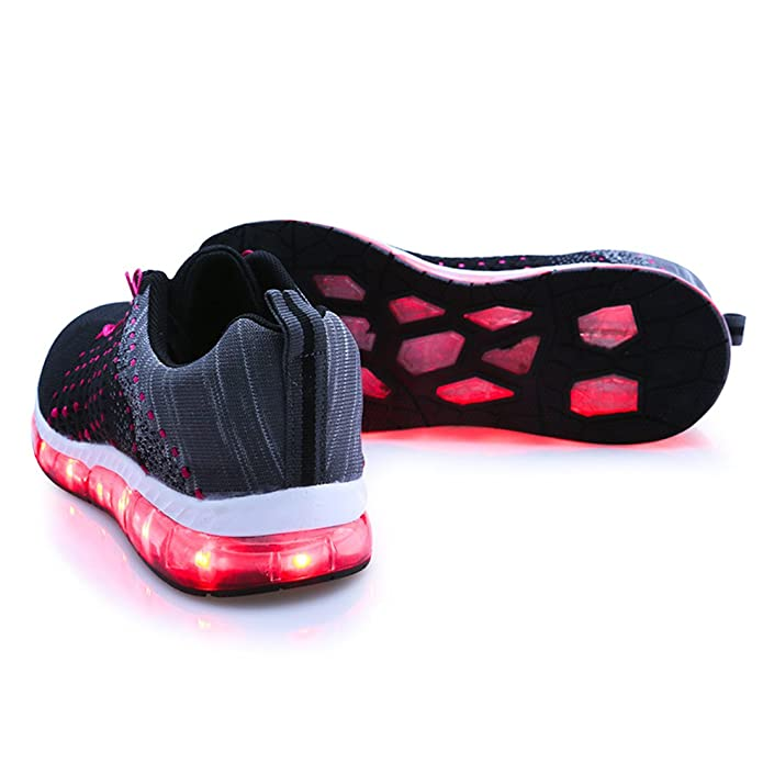 DorkasDE LED Schuhe USB Aufladen 7 Farben 11 Beleuchtenmodi