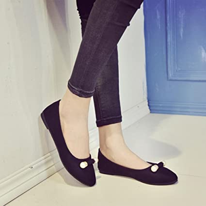 b05962ebdac Image Unavailable. Image not available for. Color  Hemlock Women Dress Flat  Shoes ...