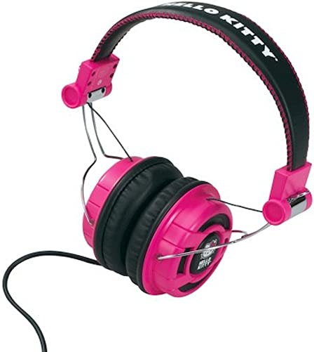 Foldable Over-The-Ear Headphones – Pink Black Kt2091Mby -Hello Kitty by Hello Kitty