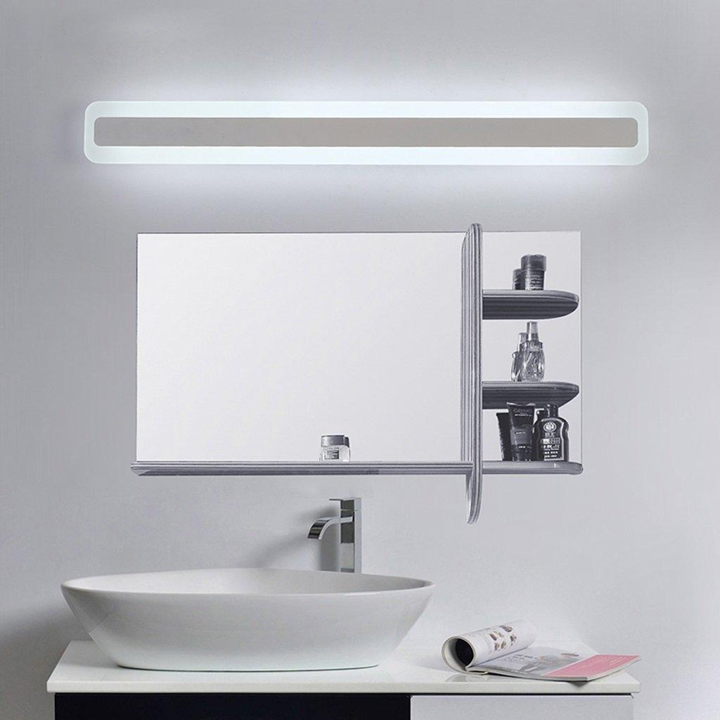 LEDミラーライト、洗面所トイレ浴室、防水、防曇、白18W60cm(23.6