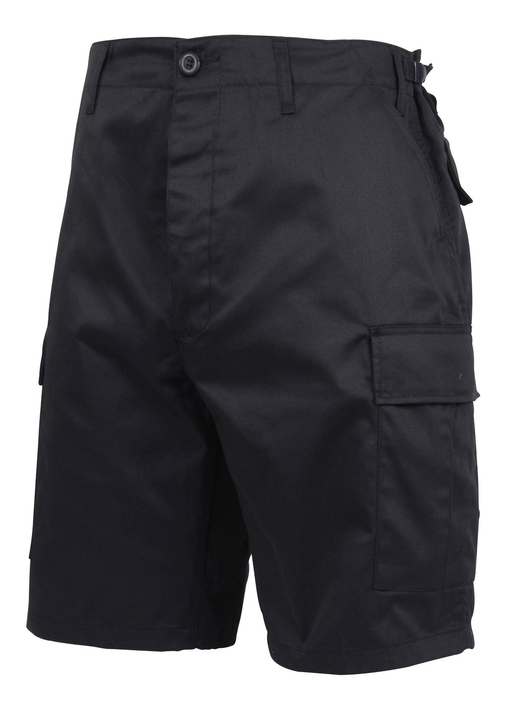 Rothco Men's Ultra Force Military Style BDU Combat Shorts, Black, Medium Regular (Waist:31'' to 35'')