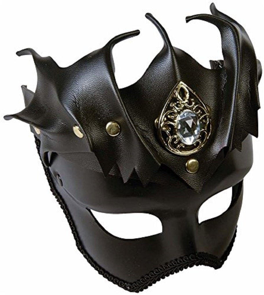 Medieval Fantasy Warrior Female Bat Mask On Glasses