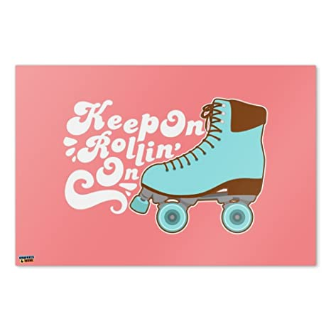 Amazon Com Graphics And More Roller Skates Derby Keep On Rolling