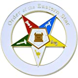 Masonic Exchange White Eastern Star (OES) Auto Emblem Car Decal